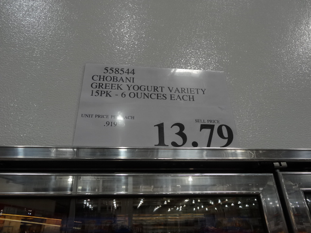 Chobani price at Costco