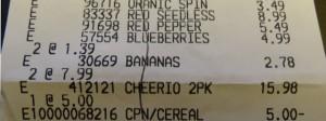 Costo receipt