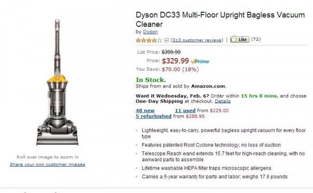 Amazon Dyson DC33