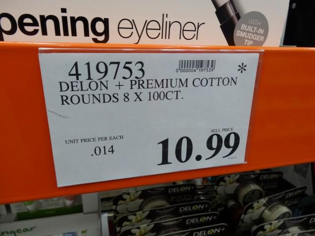 Delon Cotton Rounds Costco