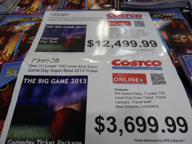 superbowl tickets at Costco