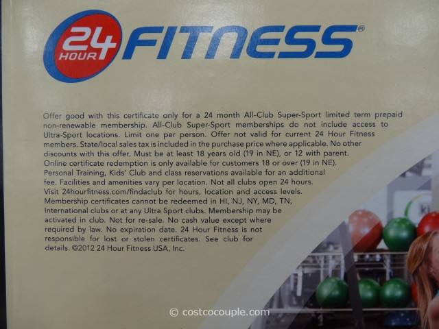 Gift Card 24 Hour Fitness Super Sport Membership Costco 2