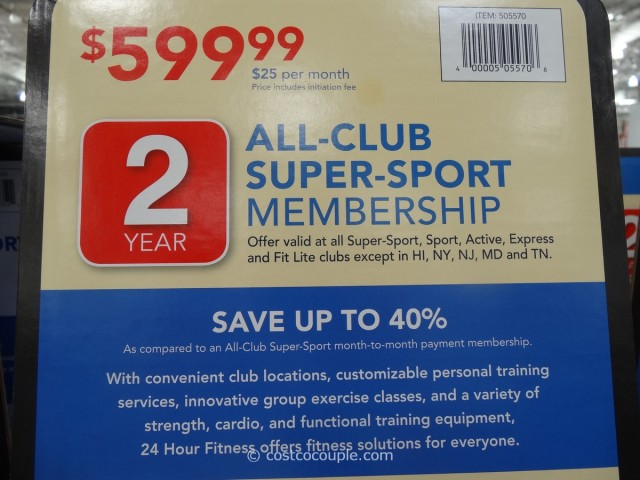 Gift Card 24 Hour Fitness Super Sport Membership Costco 3