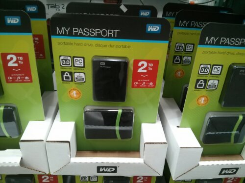 WD 2TB My Passport at Costco
