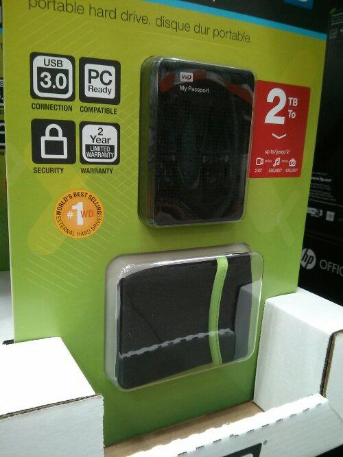 WD 2TB My Passport Portable Hard Drive Costco