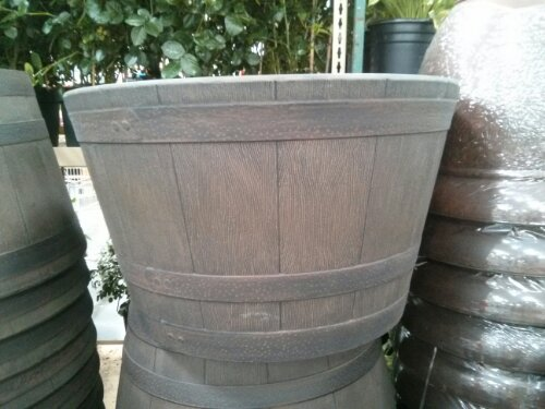 Half whiskey barrel planter Costco