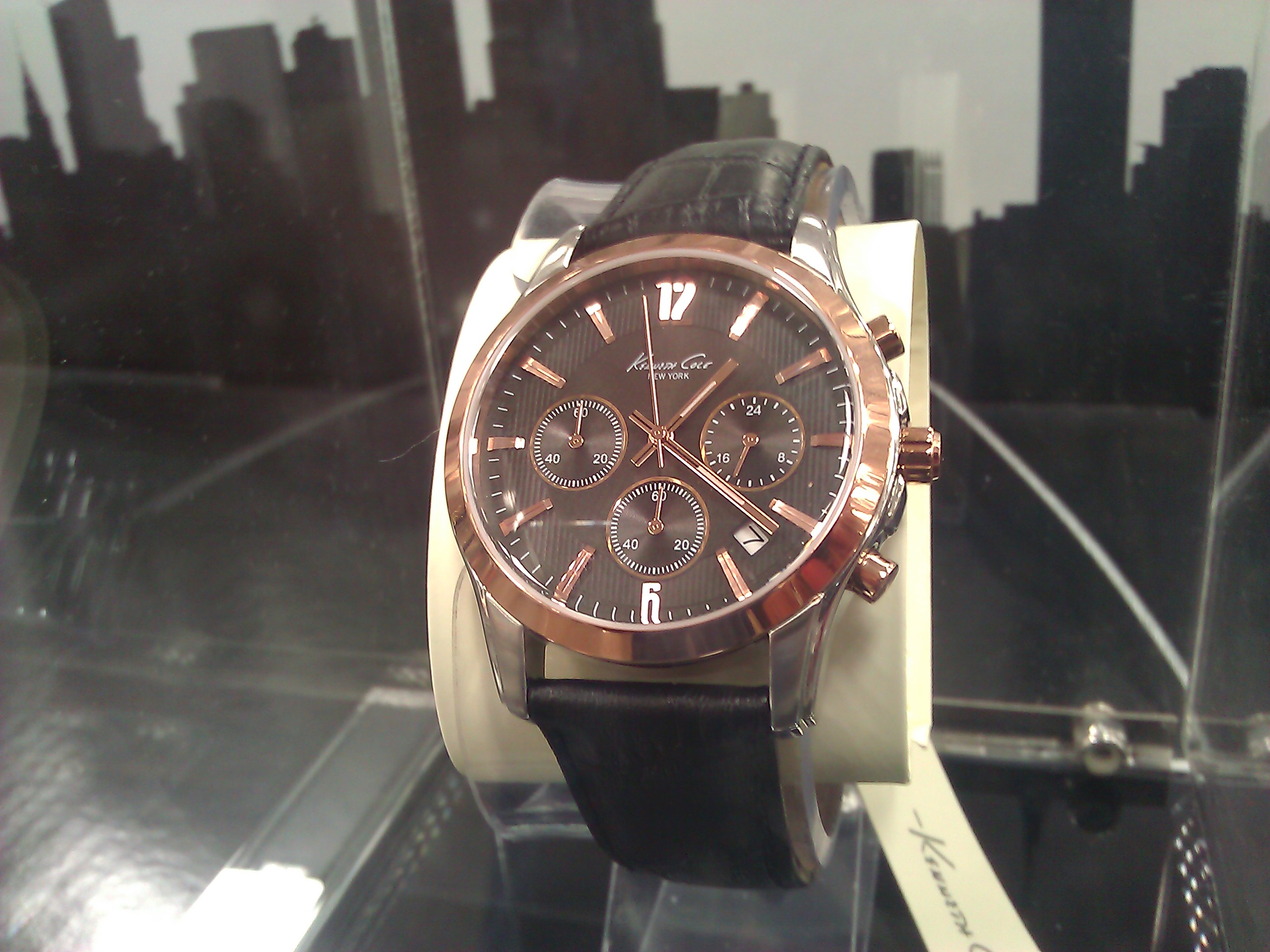 Kenneth Cole Rose Gold Brown Leather Chronograph Costco