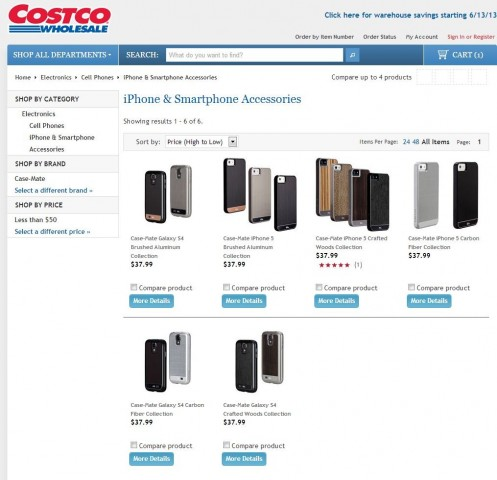 Case-Mate iPhone 5 and Samsung Galaxy S4 Collections Costco