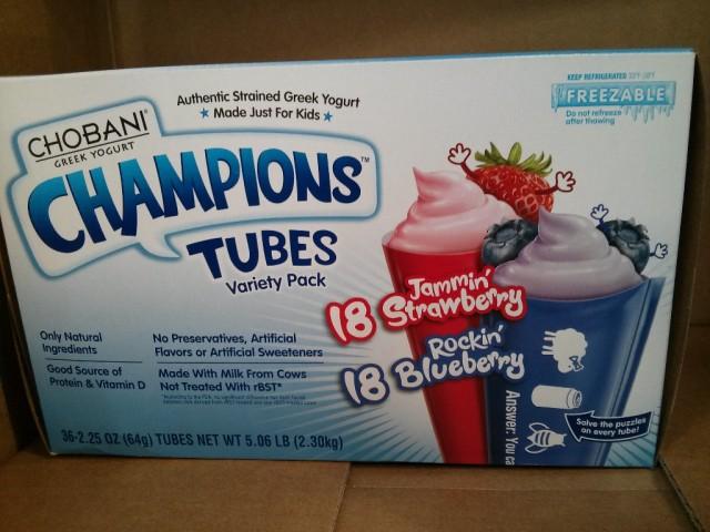 Chobani Greek Yogurt Tubes Costco