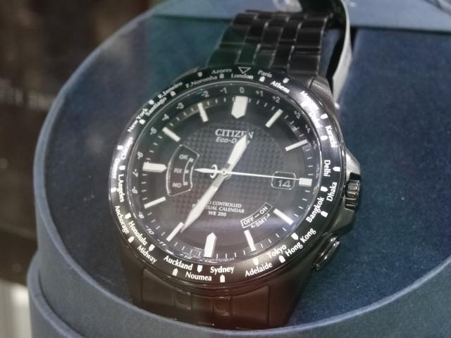 Citizen EcoDrive All Black Atomic Timekeeping Watch Costco