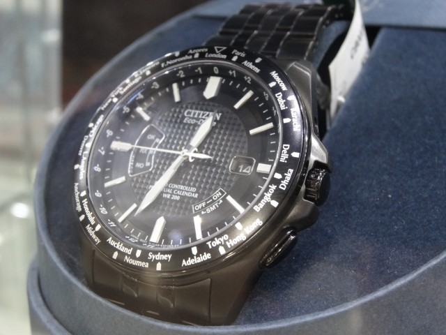 Citizen EcoDrive All Black Atomic Timekeeping Watch Costco