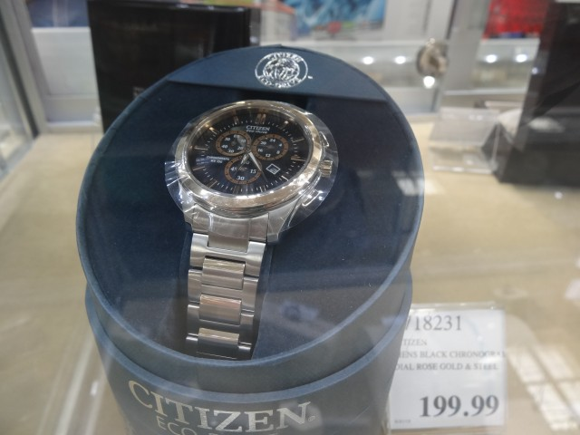 Citizen Eco-Drive Black Chronograph Costco