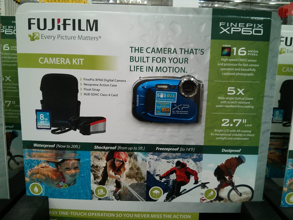 Fuji XP60 Waterproof Digital Camera Costco