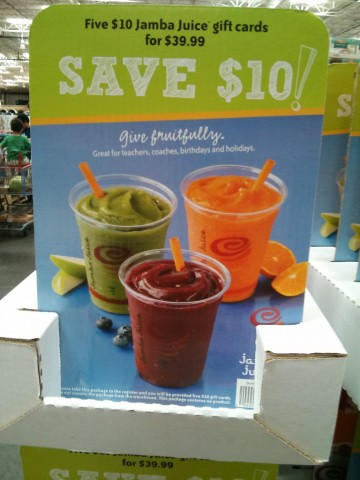 Gift Card Jamba Juice Costco