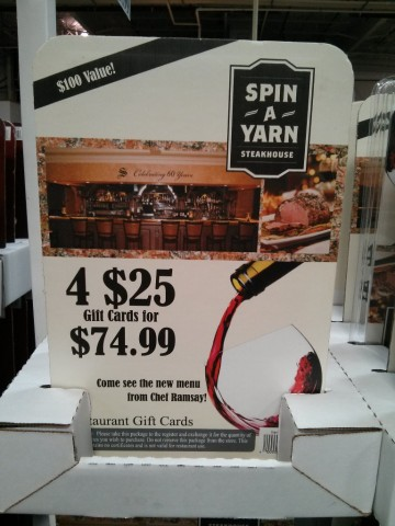 massimo s spin a yarn steakhouse strizzi s discount gift cards. Black Bedroom Furniture Sets. Home Design Ideas