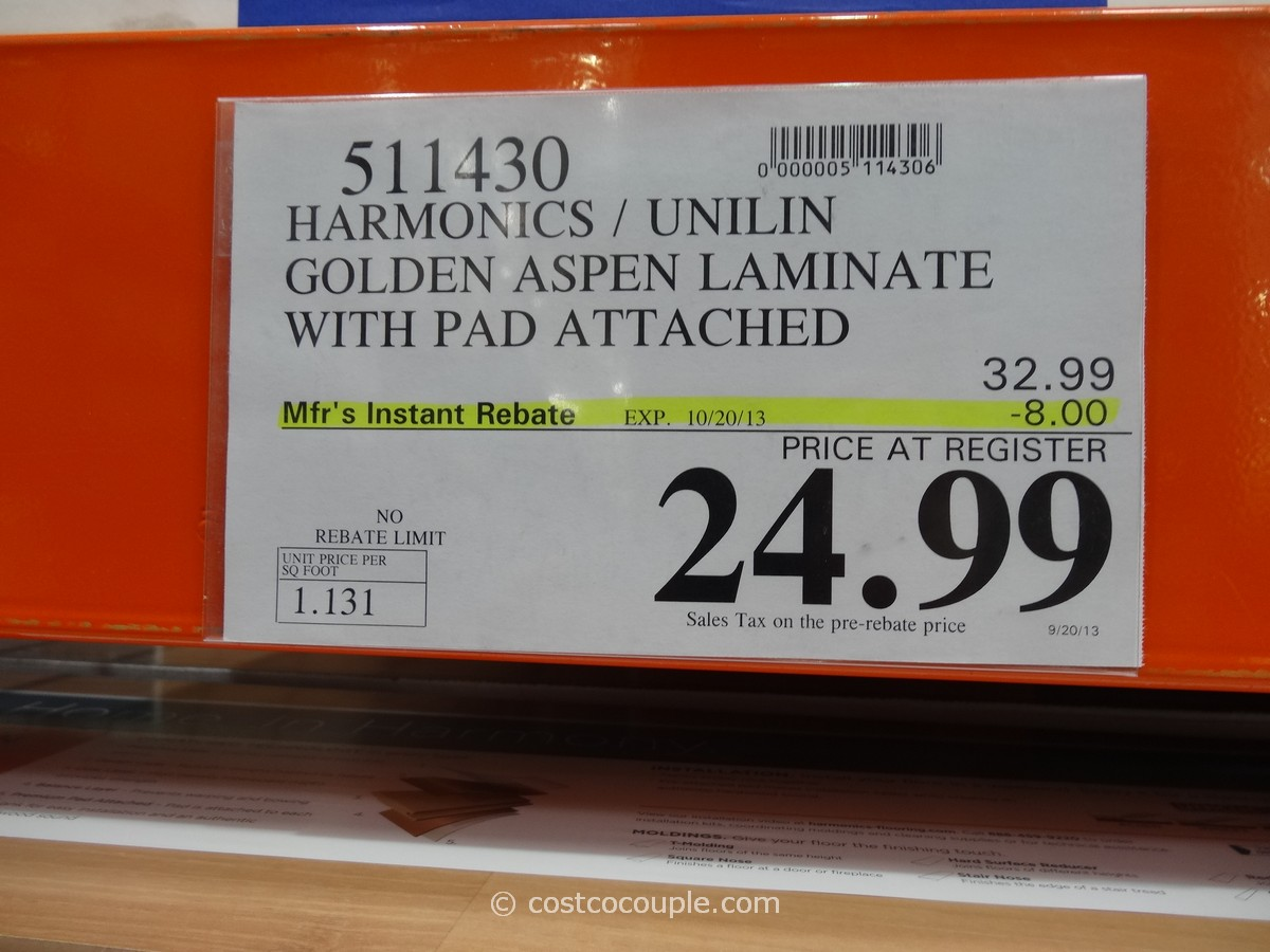 Harmonics Laminate Flooring Rebate Till 10 20 13 Costco 3