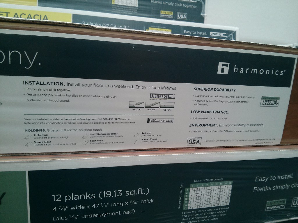 Harmonics Laminate Flooring Discount Available