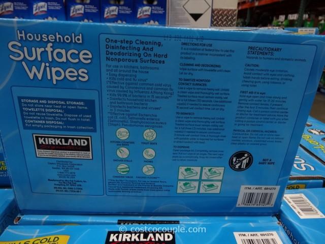 Kirkland Signature Disinfecting Wipes Costco 2