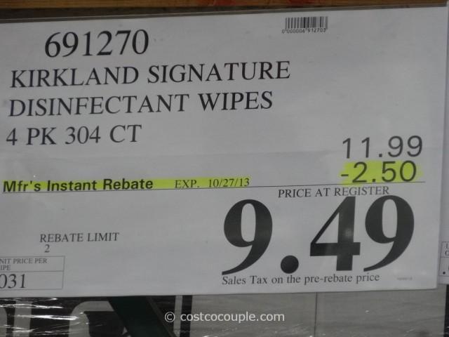 Kirkland Signature Disinfecting Wipes Costco 3