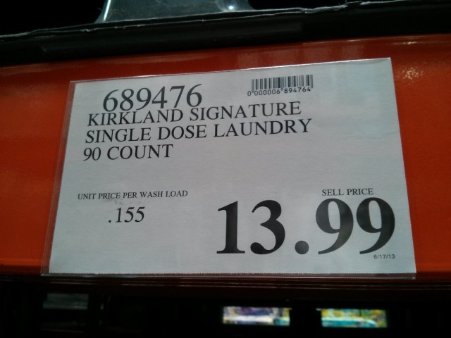 Kirkland Signature Laundry Detergent Pacs Costco