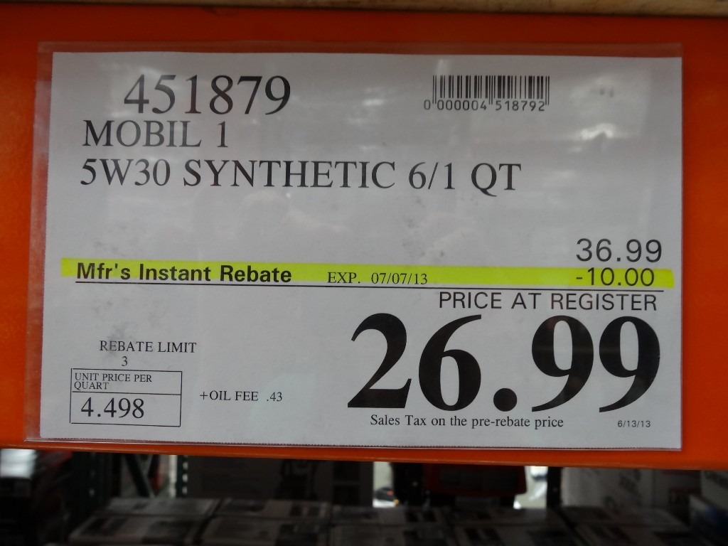 Costco Car Buying >> Mobil 1 Synthetic Motor Oil