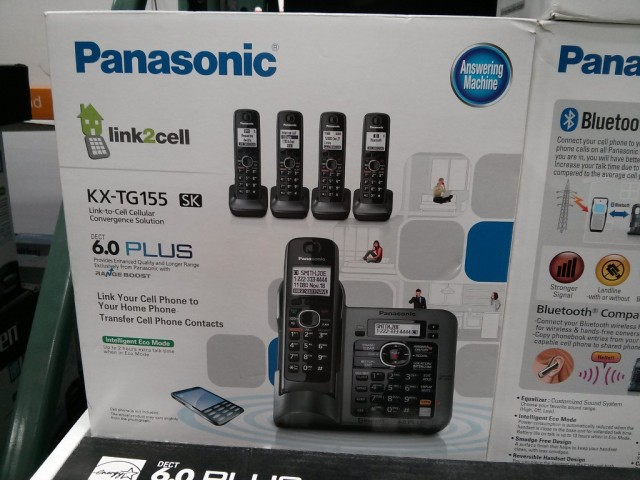 Panasonic KX-TG155 Cordless Phone Costco