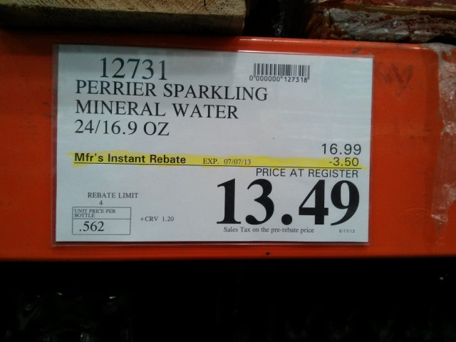 Perrier Sparkling Water Costco