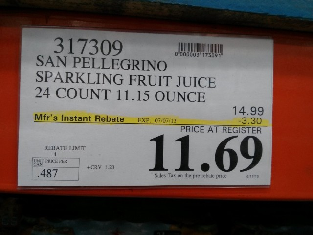San Pellegrino Sparkling Fruit Beverage Costco