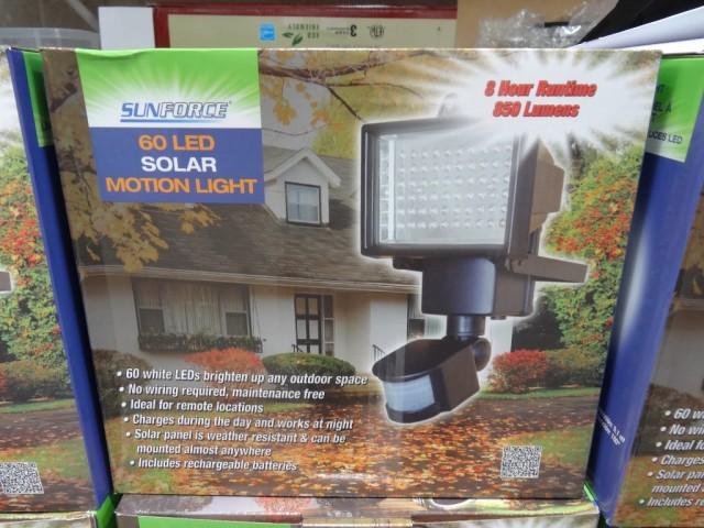 Sunforce LED Solar Motion Light Costco