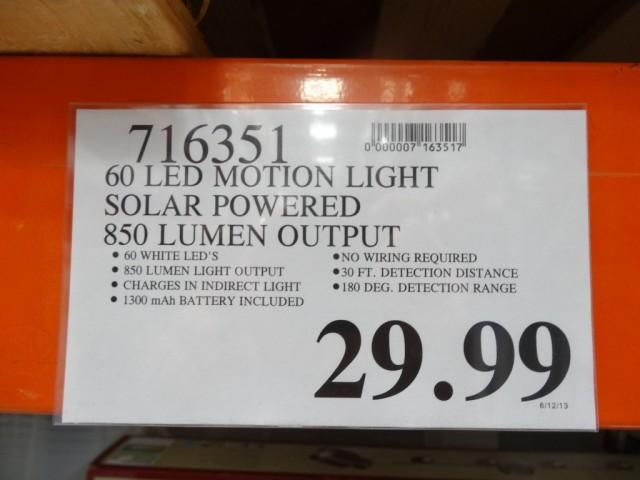 Sunforce 60 Led Solar Motion Light