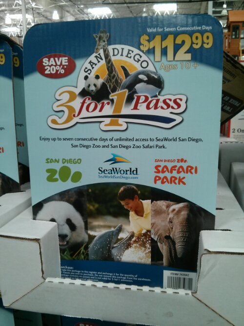 San Diego 3-in-1 Discount Ticket Costco