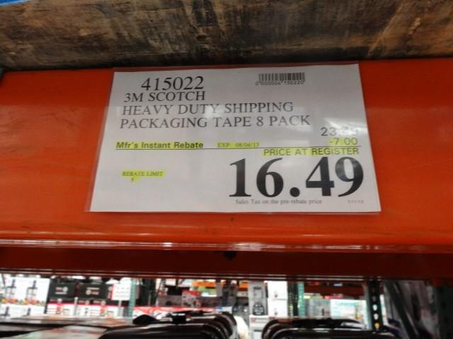 3M Scotch Heavy Duty Shipping Packaging Tape Costco
