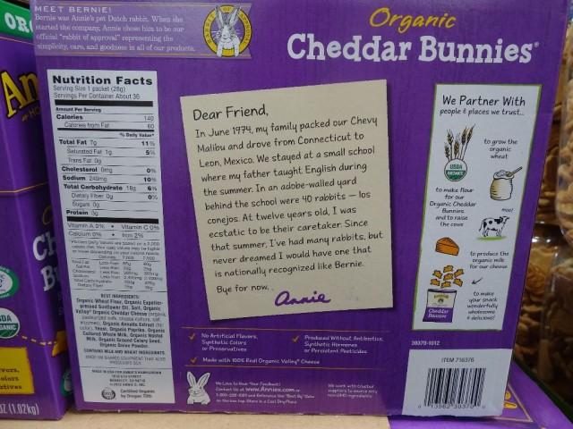 Annie's Organic Cheddar Bunnies Costco