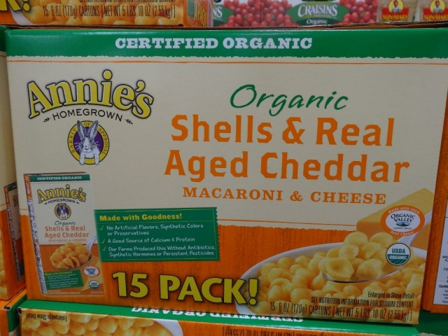 Annies Organic Shells and Cheddar Macaroni and Cheese Costco