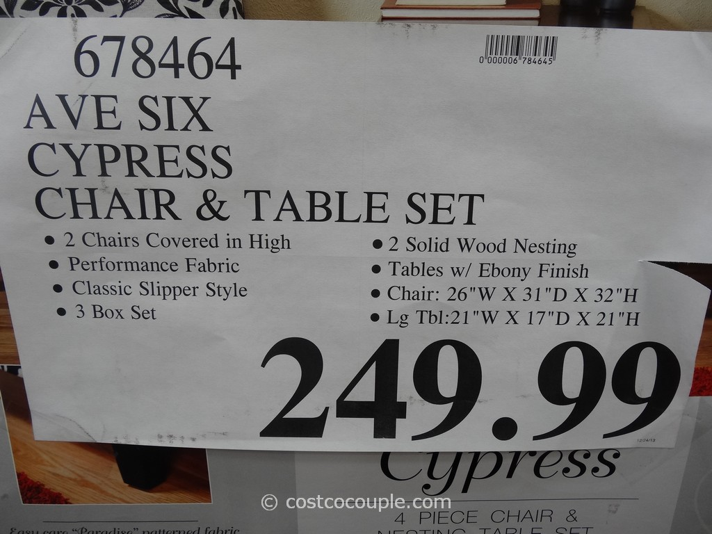 ... Ave Six Cypress Chair And Table Set Costco 1
