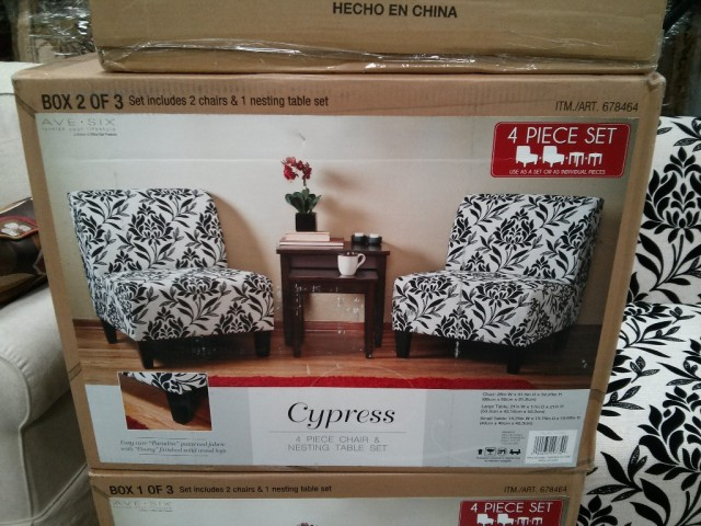 Ave Six Cypress Chair and Table Set Costco