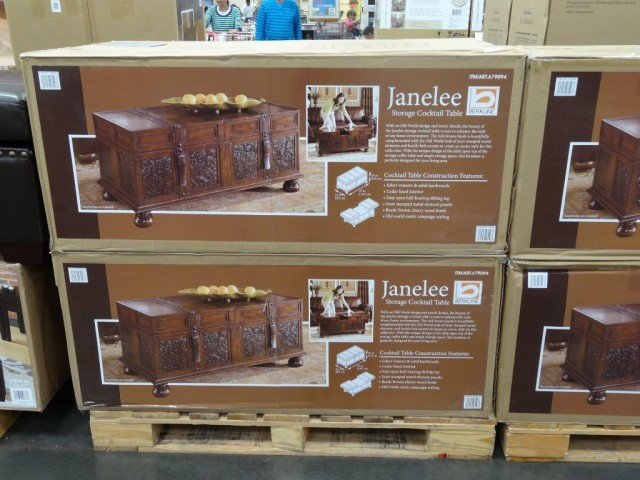 Berkline Janelee Storage Cocktail Table Costco