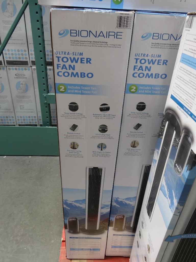 Fans At Costco : Bionaire tower fan combo