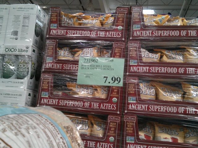 Bobs Red Mill Organic Quick Cooking Steel Cut Oats Costco