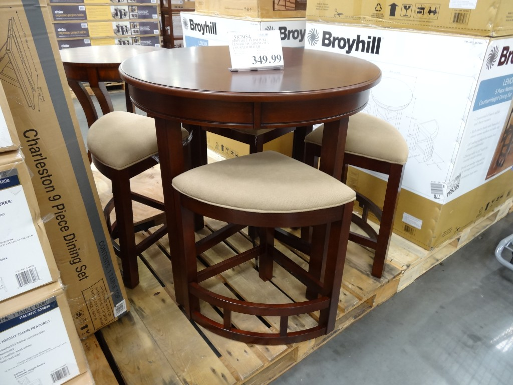 broyhill lenoir 5piece counter height dining set costco