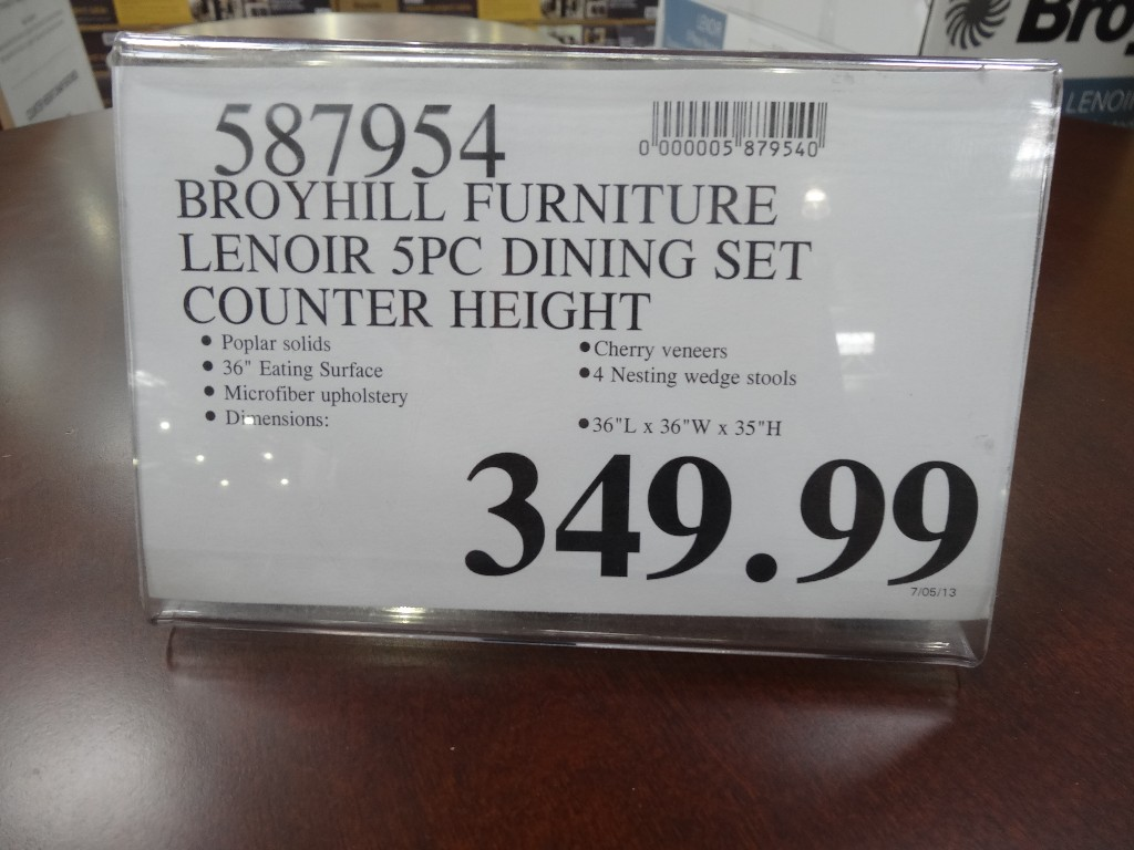 Broyhill Lenoir 5 Piece Counter Height Dining Set Costco