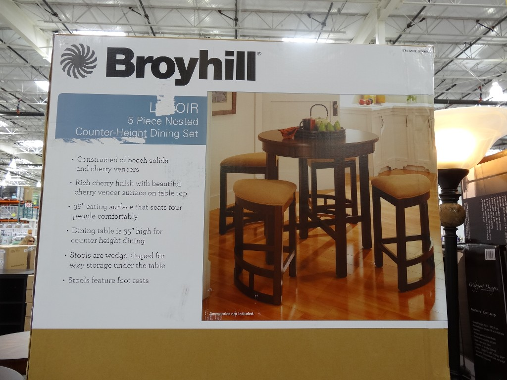 Broyhill Lenoir 5-Piece Counter Height Dining Set Costco 5