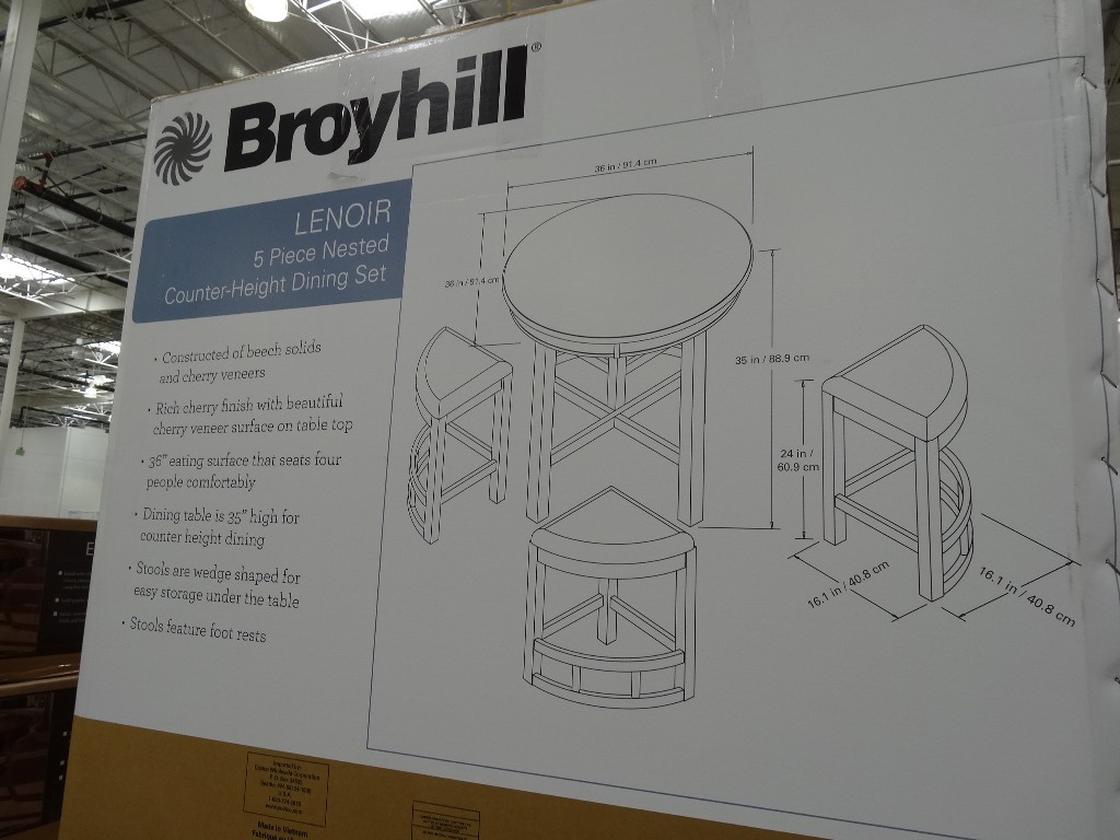Broyhill Lenoir Piece Counter Height Dining Set - Broyhill counter height dining set