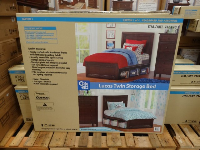Cafe Kid Lucas Twin Bed With Storage Costco