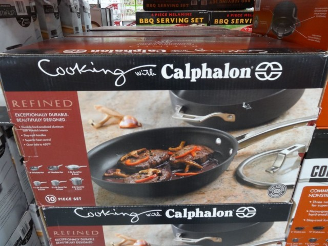 Calphalon 10 Piece Hard Anodized Cookware Set Costco