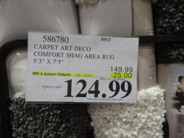 Carpet Art Deco Shag Rug Costco