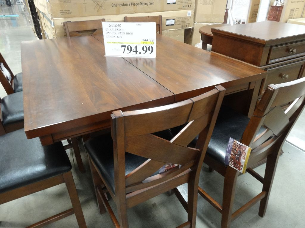 Charleston 9 Piece Counter Height Dining Set Discount Costco