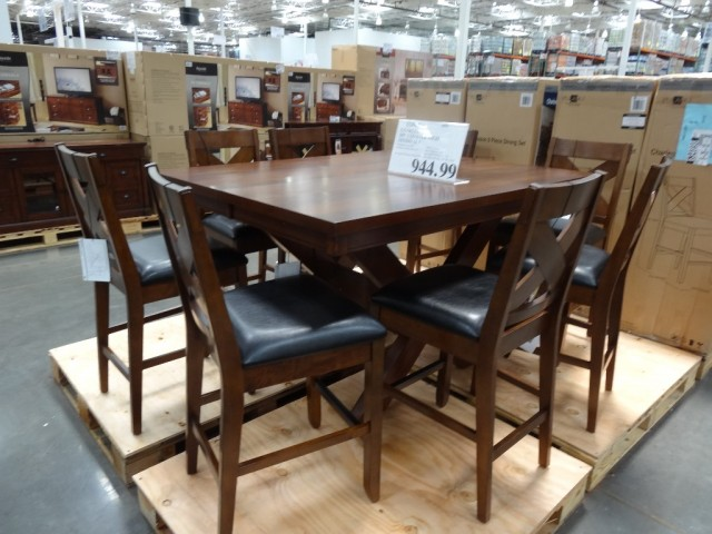 Charleston 9 piece counter height dining set - Costco dining room set ...