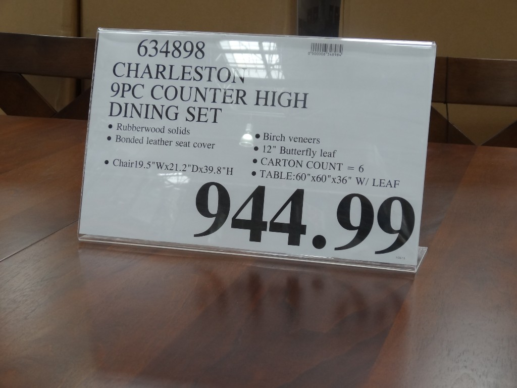 ... Charleston Counter Height Dining Set Costco