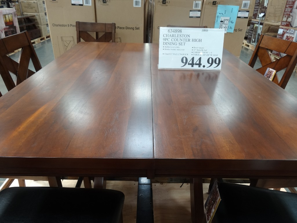 Charleston 9 Piece Counter Height Dining Set